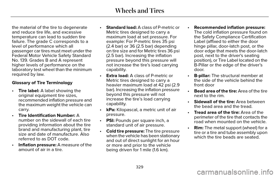 Tire Size Lincoln Mkz 2016 Owners Manual