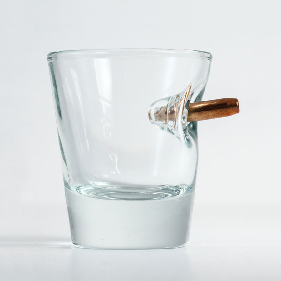 benshot bulletproof shot glass with real bullet 3