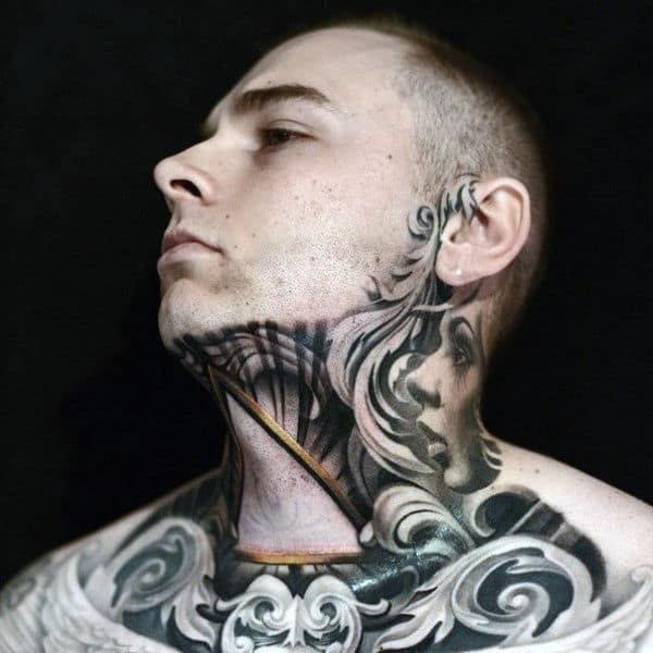 80 Throat Tattoos For Men Cool Masculine Design Ideas
