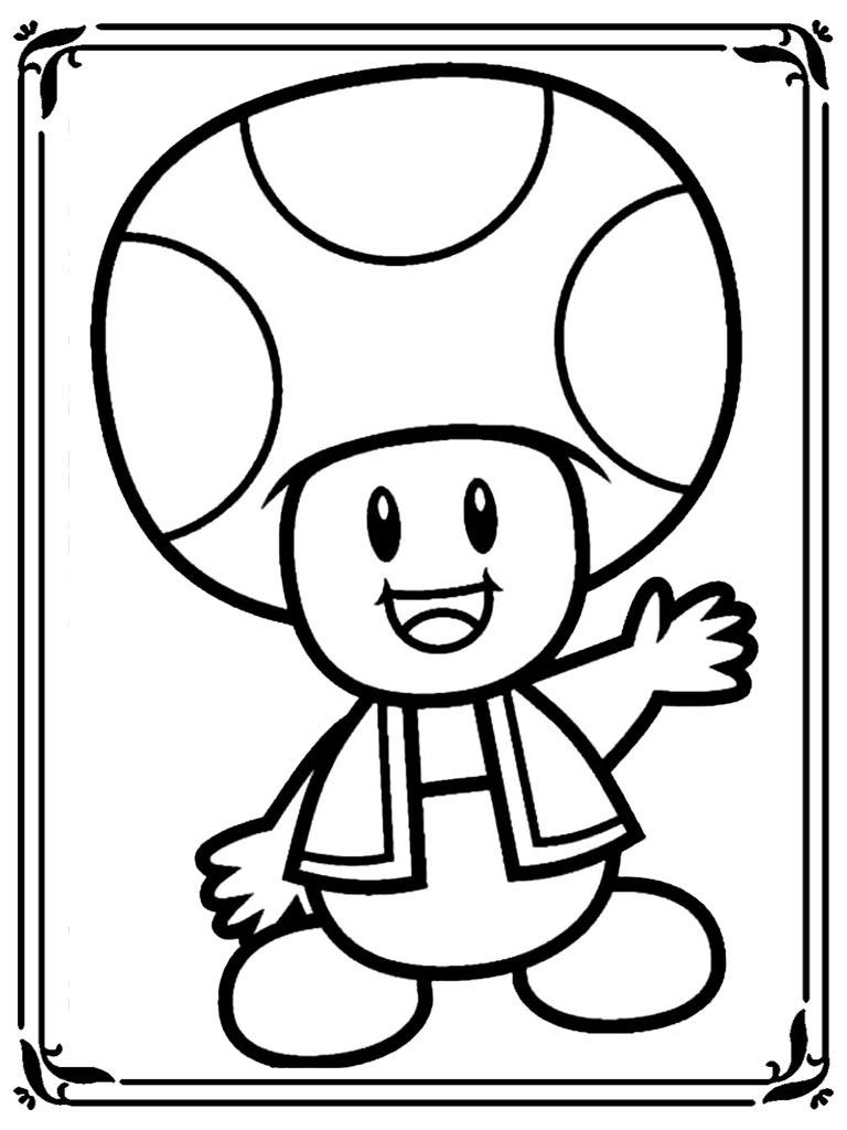 cool image coloriage mario champignon gratuit with coloriage mario