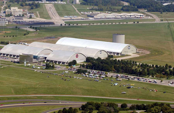 O Air Force Materiel Command está sediada na Wright-Patterson Air Force Base.  (Crédito: Wikimedia Commons)