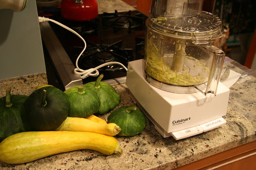 squash and grater
