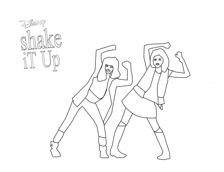 Cozy Coloriage Shake It Up De Disney Channel A Imprimer Et Colorier