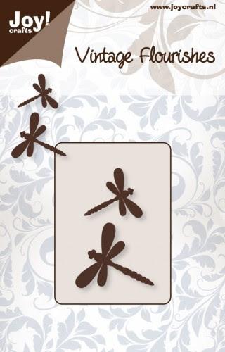 Joy! Crafts - Noor! Design - Vintage Flourishes - 2 libelles
