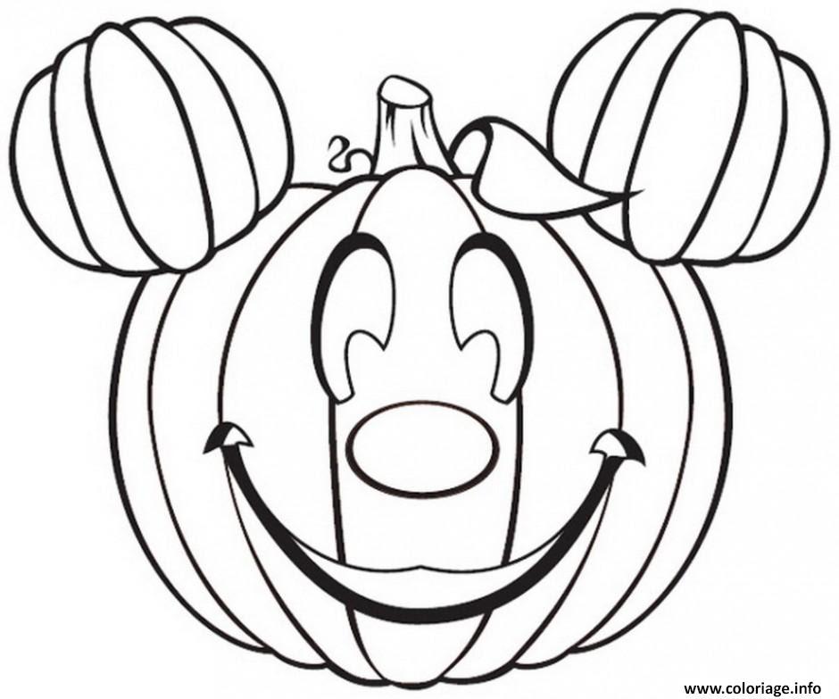 Coloriage Citrouille Halloween Disney Mickey Jecoloriecom
