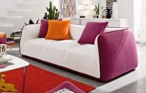 Small Minimalist House Design House Minimalis Colorful Modern Sofa