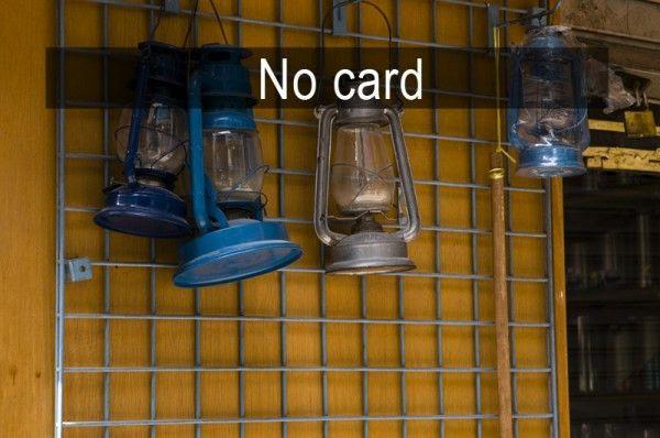 No memory card? No shooting!