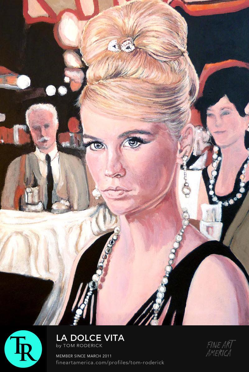 Portrait of Betty Draper by Boulder portrait artist Tom Roderick