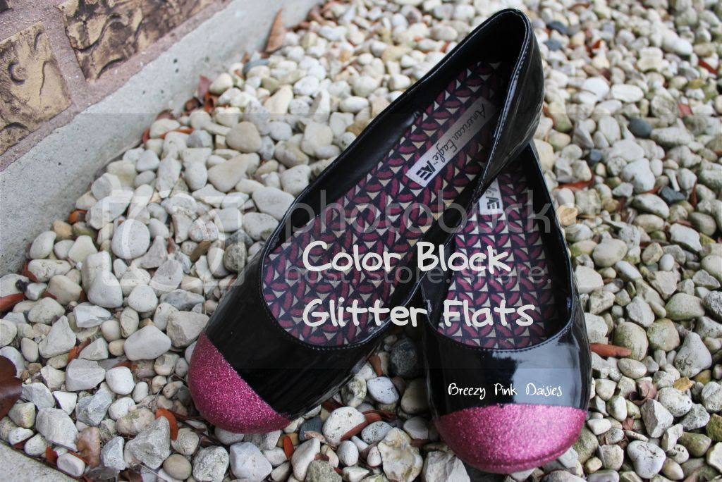 Spray Painted Color Block Flats