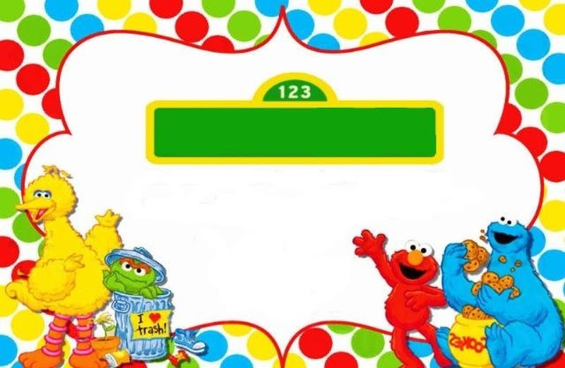Sesame Street Invitation Template