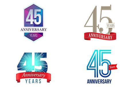 Stock Graphic   45th Anniversary Symbol » Logotire.com