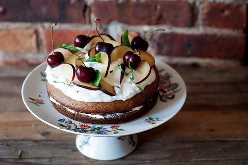 Glutenfree Plum and Cherry Cake by -ashafsk- #flickstackr  Flickr: http://flic.kr/p/oBKjN7