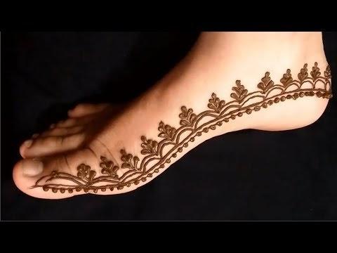 arabic leg mehndi design simple and easy