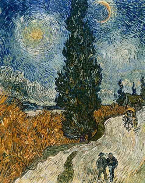 Vincent Van Gogh - Road with Cypresses