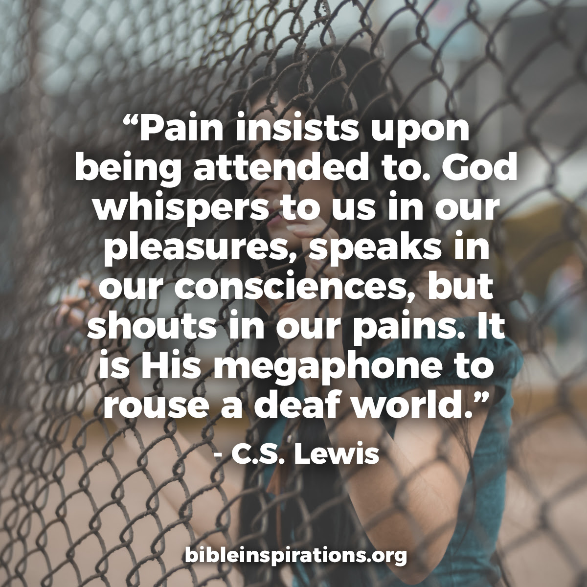 Pain Insists Upon Being Attended Tocs Lewis Quote Bible