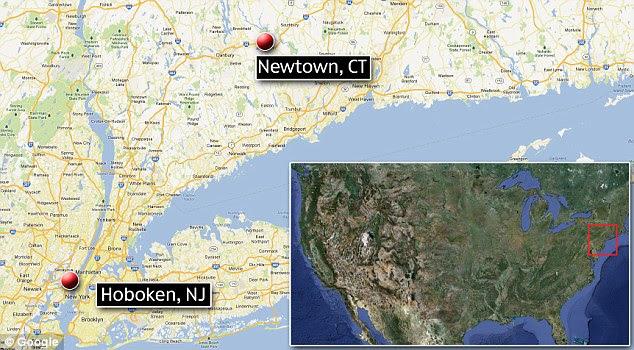 Sandy Hook Elementary School is in Newtown, Connecticut, where Nancy Lanza lived. Son Ryan lives in Hoboken, New Jersey