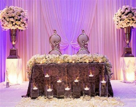 Pin by Fleur d? Elegance on Head table   Sweetheart Table
