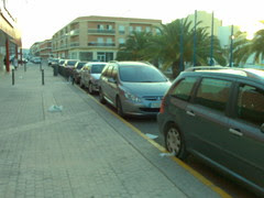 Amposta: Típic aparcament