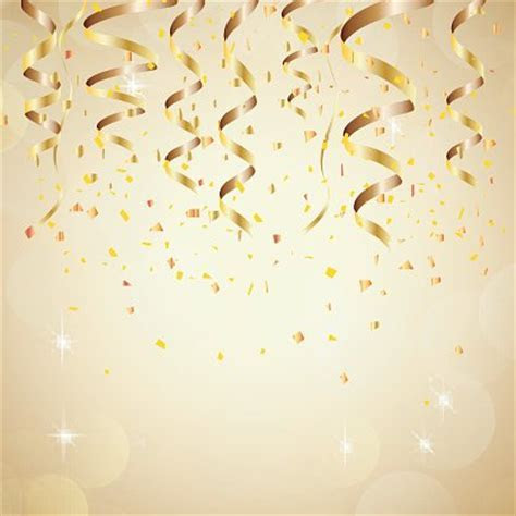 Happy New Year Background With Golden Confetti stock