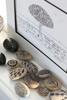 decorated stones