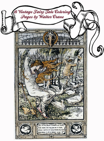 Fairy Tale Coloring Book for Adults by Walter Crane To ...