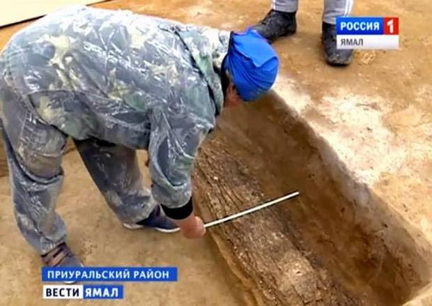 Arqueólogos en el lugar del hallazgo.