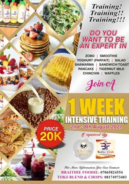 INTENSIVE One Week Baking , Small Chops, Parfait  Training  and Lots More.