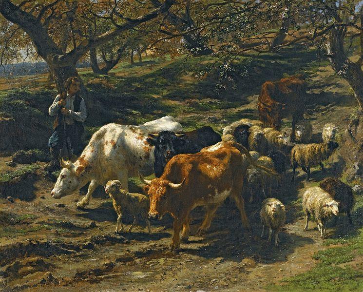 File:Rosa Bonheur - Un berger avec son Troupeau.jpg