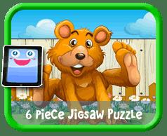 Happy Bear 6 Piece Online jigsaw puzzle for kids
