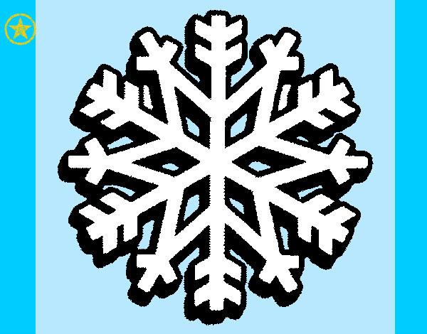 Dibujo Copo De Nieve Frozen