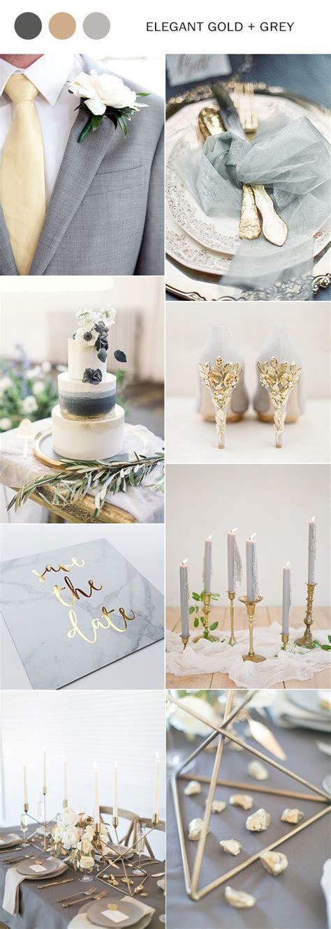 Elegant Gold and Grey Wedding Color Inspiration