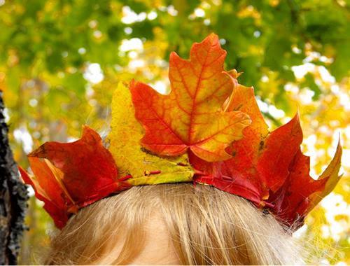 Arte con hojas2 Manualidades para niños: hojas de otoño transformadas en arte