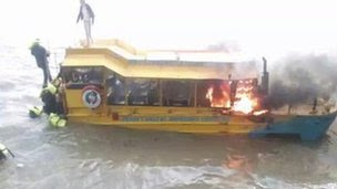 Many people jumped into the river from the London Duck Tours craft.