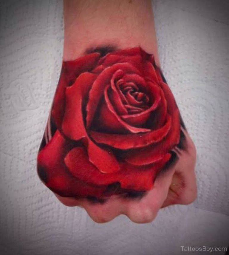 Red Rose Tattoo On Hand Tattoo Designs Tattoo Pictures