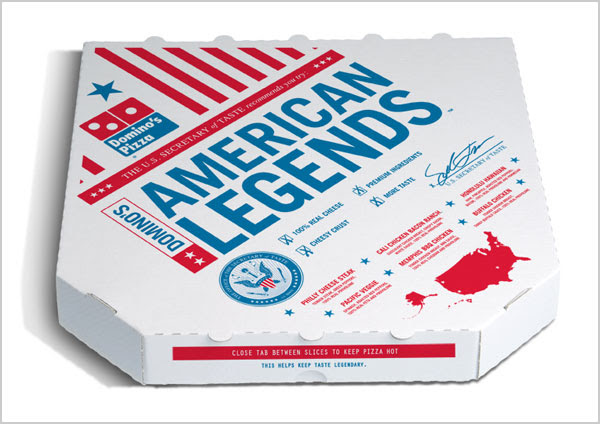Dominos pizza american legend packaging design 25+ Sour & Spicy Pizza Packaging Design Ideas