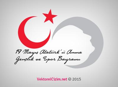 Vektörel çizim 19 Mayıs Atatürkü Anma Gençlik Ve Spor Bayramı