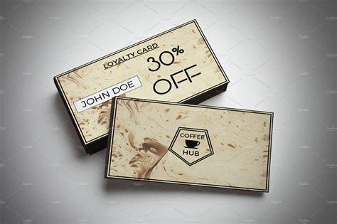Coffee Shop Discount Card ~ Card Templates ~ Creative Market