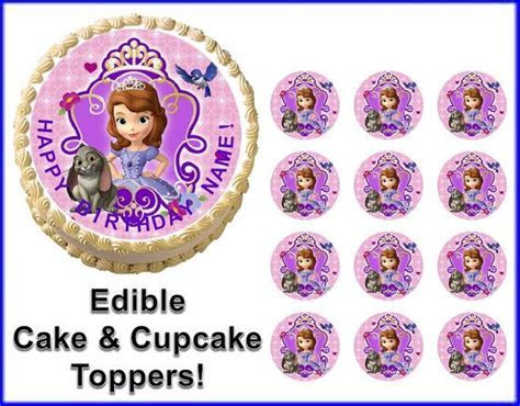 Sofia the First Princess Crown Party Edible Cake Topper