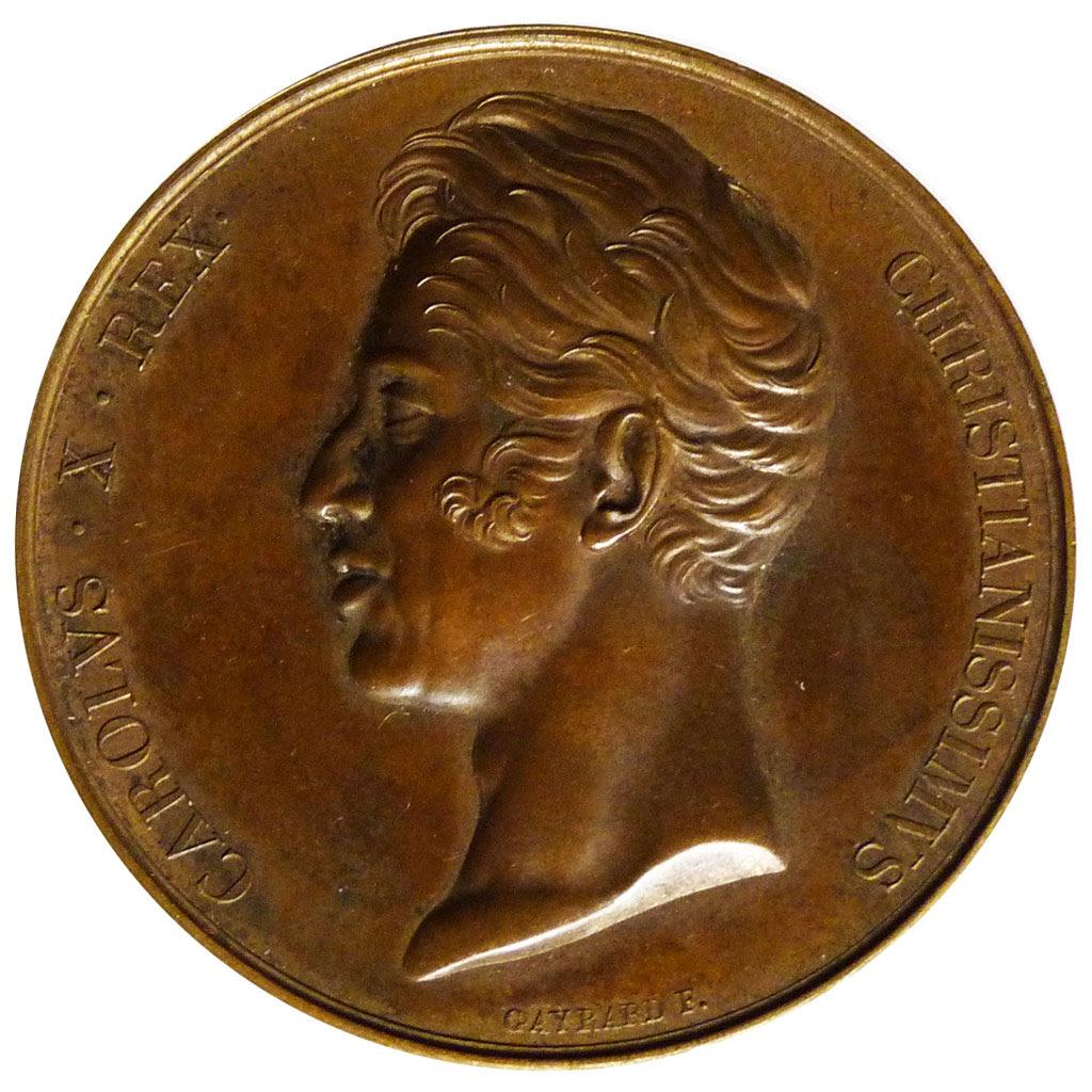 Sacre de Charles X à Reims, Médaille