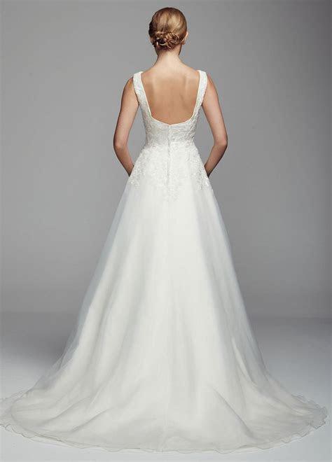 Oleg Cassini Mikado Tank Ball Gown Wedding Dress with