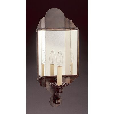 Northeast Lantern Sconce One Candelabra Socket Antique Mirror ...