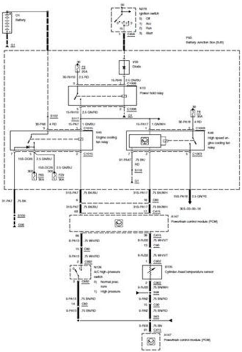 Cooling System – Circuit Wiring Diagrams