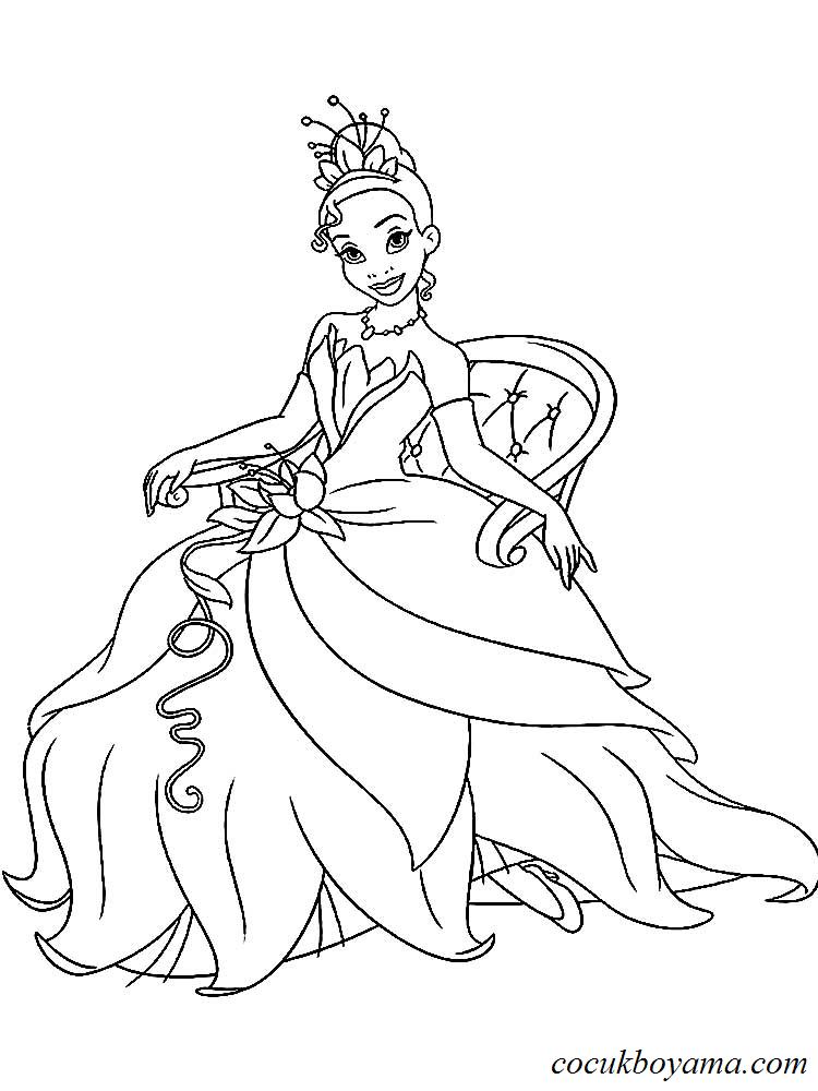 Prenses Boyama Boyama Sayfasi