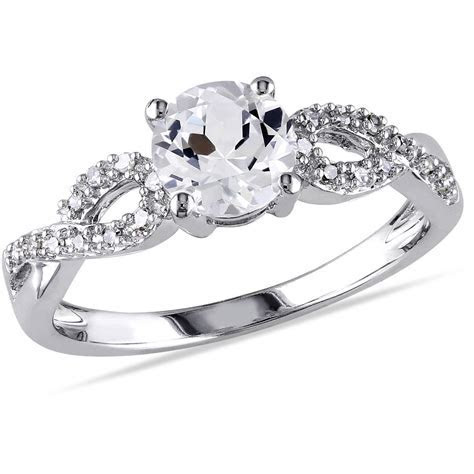 Miabella 1/10 Carat T.W. Diamond and 1 Carat T.G.W