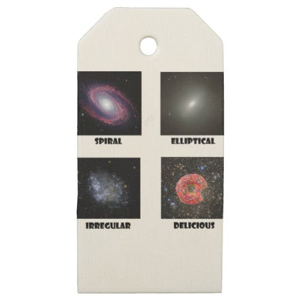 types of Galaxies3 Wooden Gift Tags