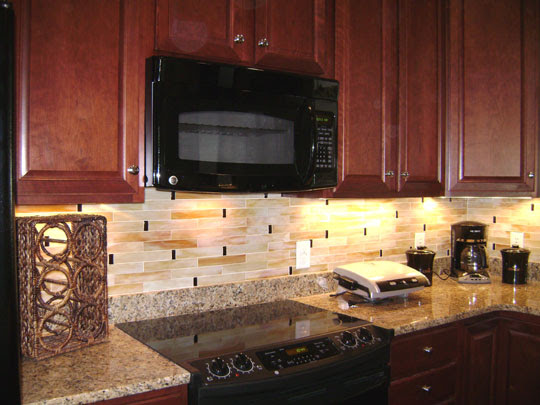 Stained Glass Mosaic Tile Kitchen Backsplash | Designer Glass ...