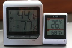cold frame and outside  temp
