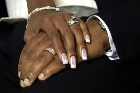The most unusual wedding rings: African american hands
