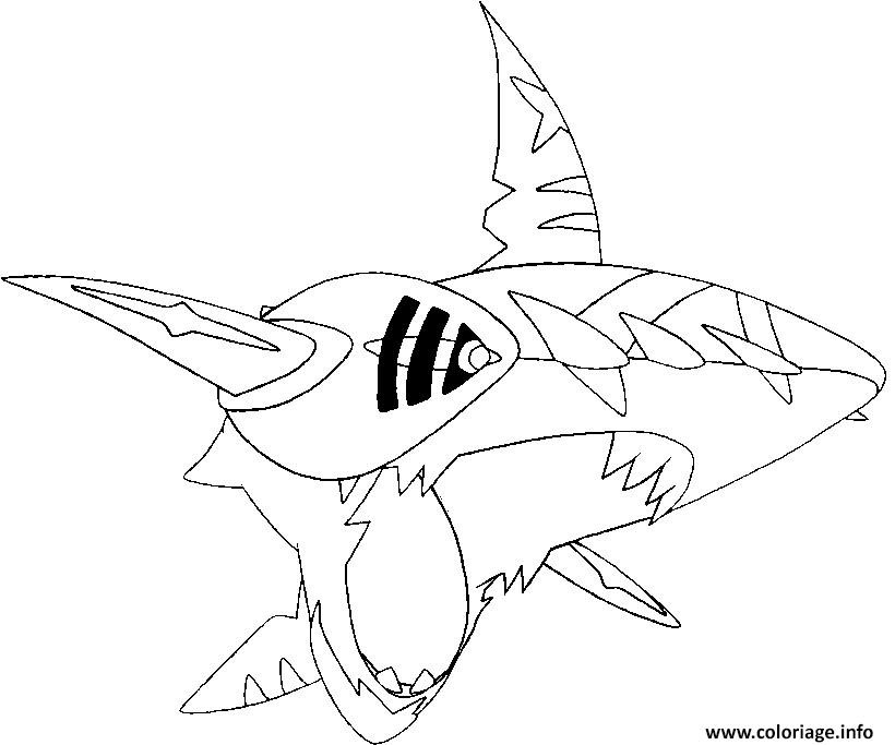 Coloriage Pokemon Mega Evolution Sharpedo 319 Jecoloriecom