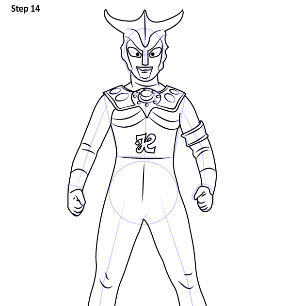 Step By Step How To Draw An Ultraman Leo Drawingtutorials101com